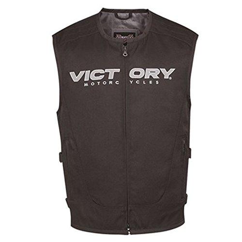 Victory Motorcycle Mens Tactical Vest Black- Large