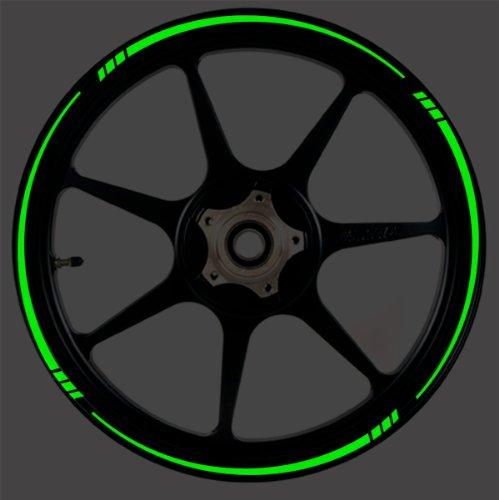 DARK GREEN Reflective Speed Tapered Wheel Rim Tape Stripe fit Motorcycles Cars Trucks