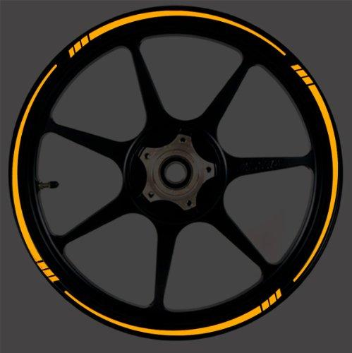 ORANGE Reflective Speed Tapered Wheel Rim Tape Stripe fit Motorcycles Cars Trucks