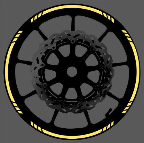 YELLOW Reflective Speed Graduated Wheel Rim Tape Stripe fit Motorcycles Cars Trucks