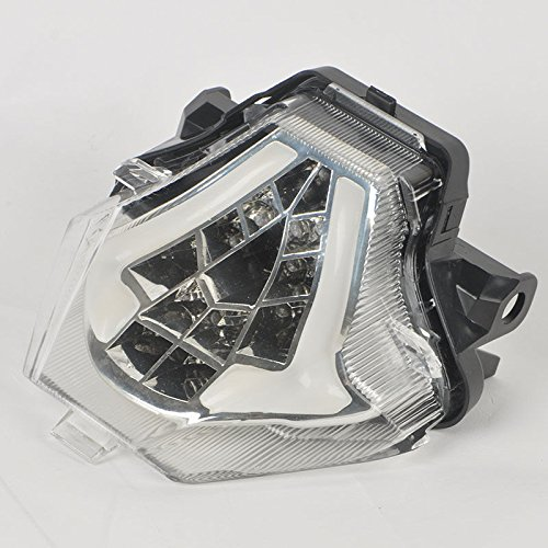 MZS LED Tail Light for Yamaha R3 2015-2016R25 2014-2015MT-03 2016-2017MT-07FZ-07 2014-2016MT-25 2015-2016 Clear