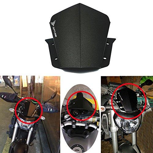 Alpha Rider Motorcycle Motorbike Black Windshield Windscreen For Yamaha MT-09 FZ-09 FZ-9 2014 2015 2016