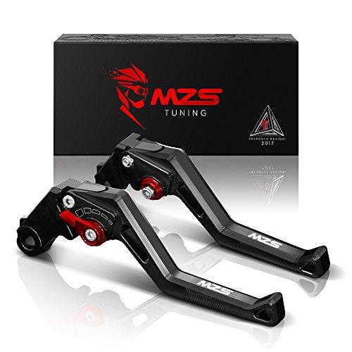 MZS CNC Brake Clutch Levers for Yamaha MT-07FZ-07 14-17FZ1 Fazer 06-13FZ6 Fazer 04-10FZ6R 09-15FZ8 11-15FZ-09MT-09SR 14-17XJ6 Diversion 09-15XSR700 ABSXSR900 ABSXV950 Racer 16-17 Black