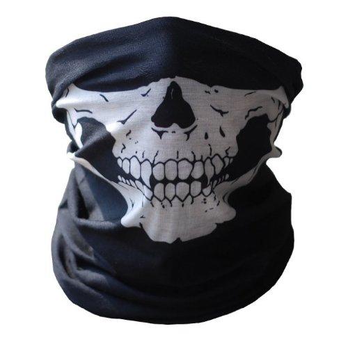 Urbansource Black Seamless Skull Face Tube Mask Buff
