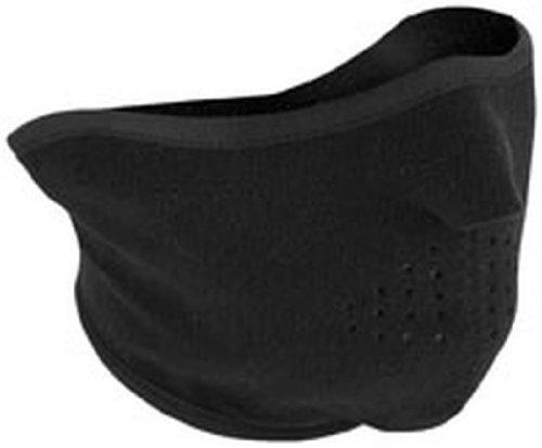 Zan Headgear Fleece Face Mask Black One Size Fits All Osfa Wfmf114h