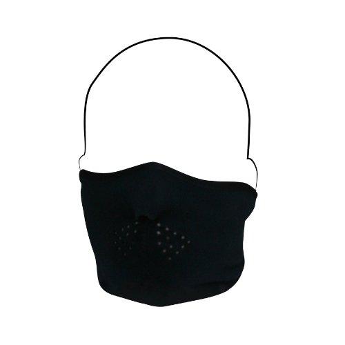 Zanheadgear Polyester Fleece Half Face Mask (black)