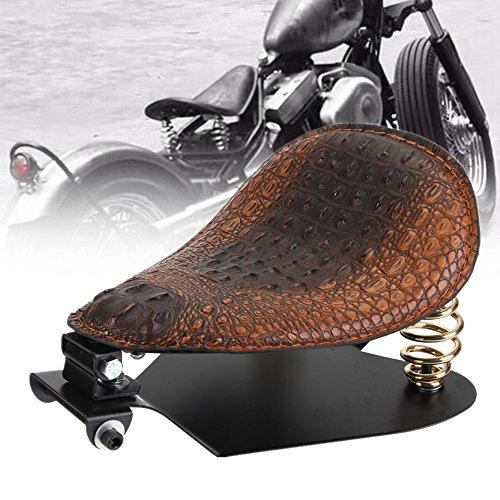 126 Alligator PU Leather Driver Solo Seat Springs Baseplate Base Plate Pan Bracket Mount Kit For Harley Sportster Fatboy Dyna Softail Chopper Bobber Custom Cafer V-ROD Street Bob Indian Gold