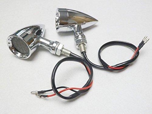 Chrome Smoke 20 LED Billet Turn Signal Stop Brake Light T for Harley Dyna Bobber Honda Yamaha Suzuki Kawasaki