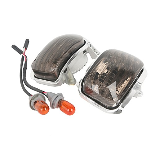 XMT-MOTO Smoke Front Side Turn Signal Lights For Honda F6B 2013 2014 2015Honda Goldwing GL1800 2001-2014