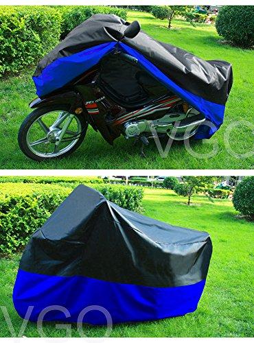 Motorcycle Cover For Honda Goldwing GL 1000 1100 1200 UV Dust Prevention XXL Black Blue