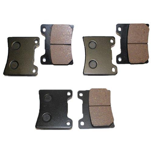 Caltric FRONT REAR BRAKE Pads Fits YAMAHA V-MAX 1200 VMX12 VMX 12 VMX1200 VM X1200 1985-2007