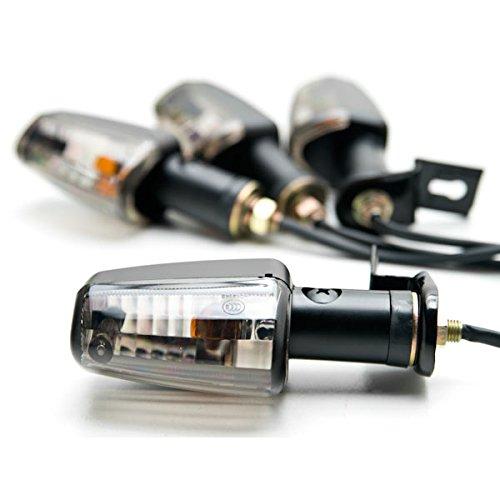 Krator Motorcycle 4 pcs Smoke Spear Turn Signals Lights For Yamaha V-Max Vmax V Max VMX 1200