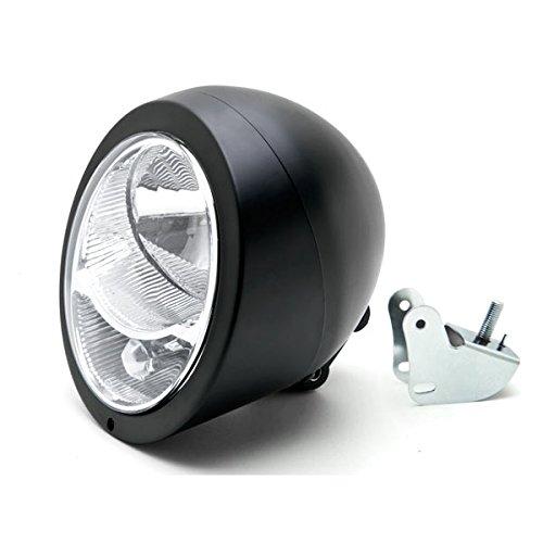 Krator Motorcycle Custom Black Headlight Head Light For Yamaha V-Max Vmax V Max VMX 1200