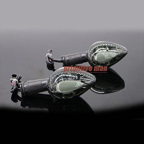 Smoke Motorcycle Blinker LED Turn Signal Indicator Light Amber For YAMAHA V-max 1700 2009-2015
