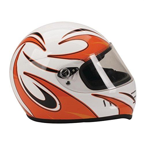 Downforce Orange Helmet Graphics-Glossy Finish-Easy Application-Racing