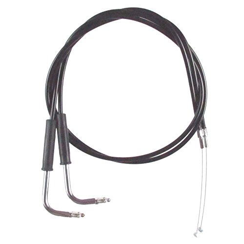 Black Vinyl Coated 4 Throttle Cable set for 2006-2007 Harley-Davidson Street Glide models without Cruise - HC-0340-0148-SG
