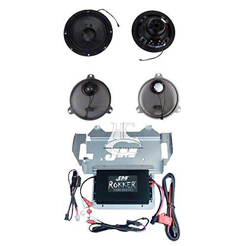 J&M Audio Rokker XXRK Extreme 2 Speaker and 330 Watt Amp Kit for 2014 and Newer Harley-Davidson Street Glide Ultra Classic models - XXRK-330SP2-14SG