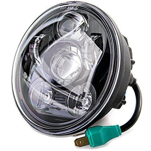5-34 LED Projection Daymaker Headlight For Harley Sportster XL 883 1200 Dyna for Harley Davidson Super Glide FXD 2010