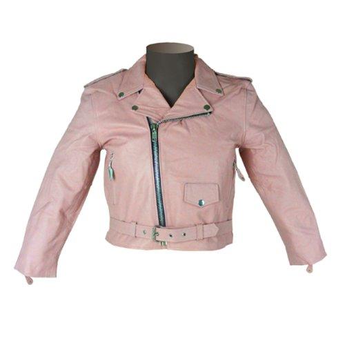 Girls Kids Pink Leather Jacket KJ742 4XL