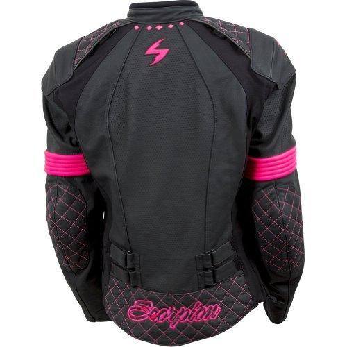 Scorpion Womens Vixen Pink Leather Jacket - Large
