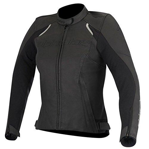 Alpinestars Stella Devon Womens Leather Motorcycle Jackets - Black - 40