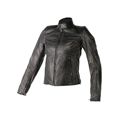 Dainese Mike Womens Leather Motorcycle Jacket Dark Brown 46 Euro8 USA