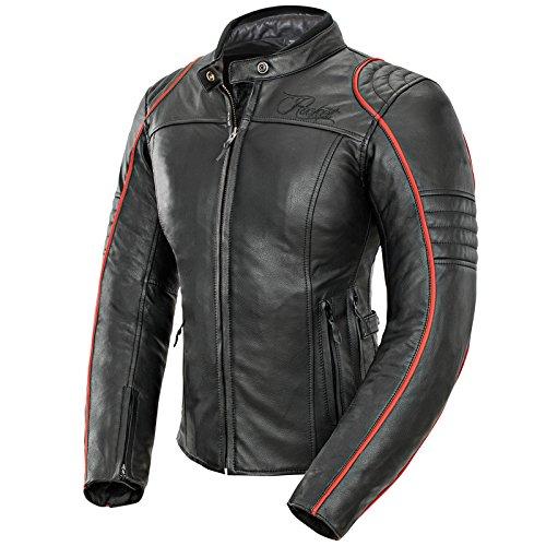 Joe Rocket Lira - Womens Leather Motorcycle Jacket - BlackRed - Medium