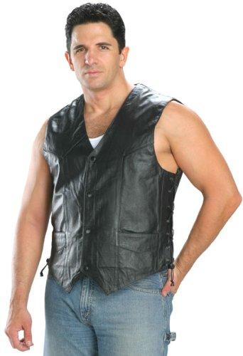 Classic Style 201L Mens Leather Side Lace Vest - X-Large