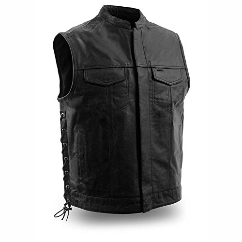 First Manufacturing mens Sniper Leather VestBlackXX-Large1 Pack