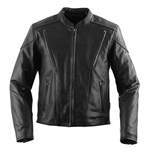 Black Brand Womens Leather Delilah Motorcycle Jacket Black Large