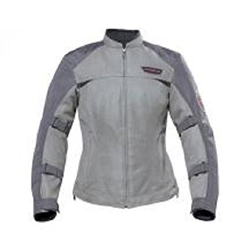 Victory Motorcycle Womens Mesh Riding Jacket Gray - XXX-Large