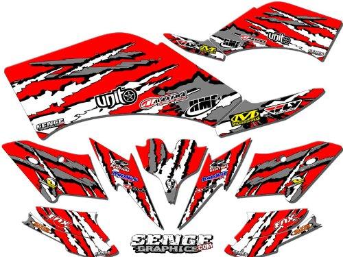 Senge Graphics 2004-2009 Kawasaki KFX 700 Shredder Red Graphics Kit