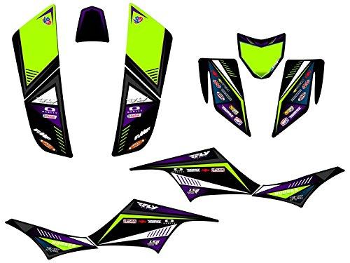 Senge Graphics 2004-2009 Kawasaki KFX 700 Surge Black Graphics Kit