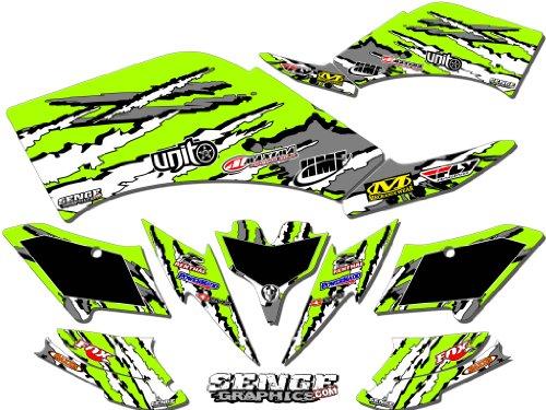 Senge Graphics 2007-2016 Kawasaki KFX 90 Shredder Green Graphics Kit