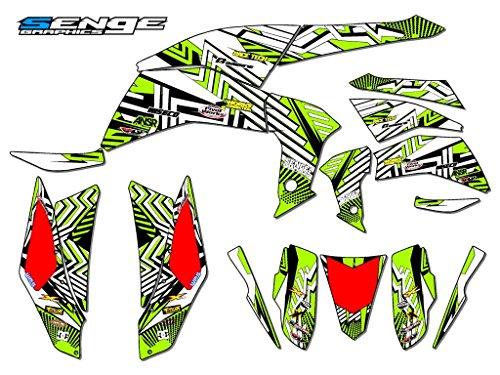 Senge Graphics 2008-2016 Kawasaki KFX 450R Mayhem Green Graphics Kit