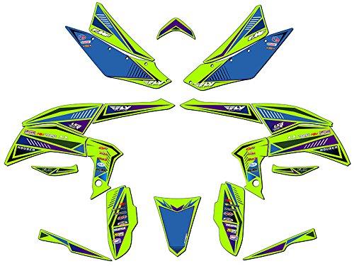 Senge Graphics 2008-2016 Kawasaki KFX 450R Surge Green Graphics Kit