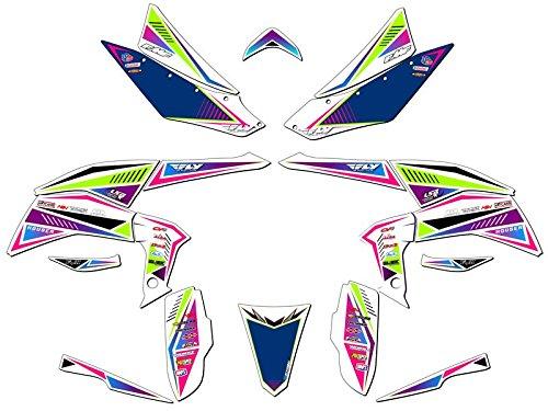 Senge Graphics 2008-2016 Kawasaki KFX 450R Surge Pink Graphics Kit