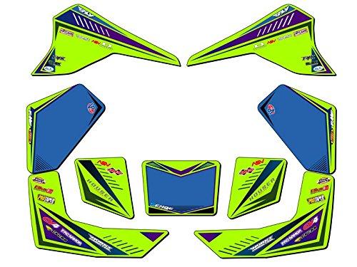 Senge Graphics All Years Kawasaki KFX 80 Surge Green Graphics Kit