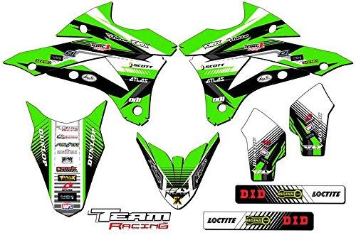 Team Racing Graphics kit for 2014-2017 Kawasaki KX 85100 ANALOG Base kit