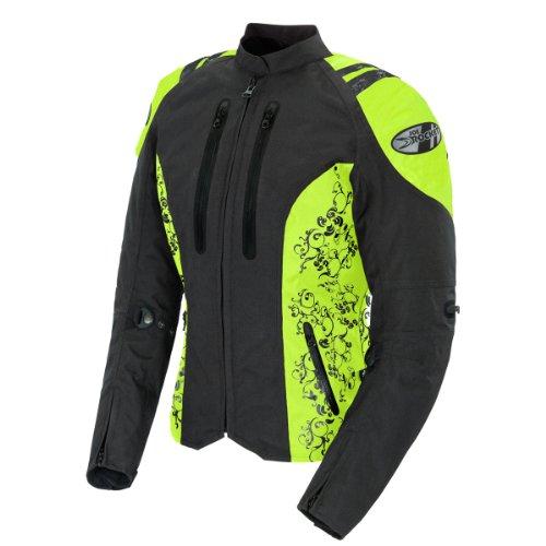 Joe Rocket Atomic 40 Womens BlackHi-Viz Textile Motorcycle Jacket - Medium