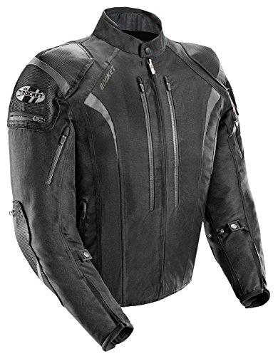 Joe Rocket Atomic Mens 50 Textile Motorcycle Jacket Black Large