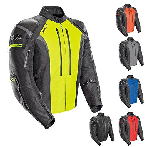Joe Rocket Atomic Mens 50 Textile Motorcycle Jacket Hi-Viz Medium