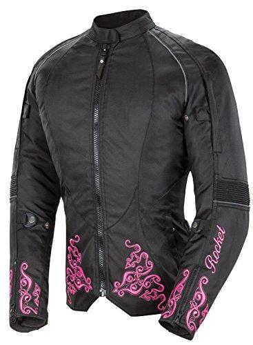 Joe Rocket Heartbreaker 30 Womens Textile Motorcycle Jacket BlackPink X-Large