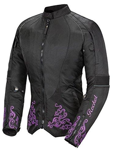 Joe Rocket Heartbreaker 30 Womens Textile Motorcycle Jacket BlackPurple Large