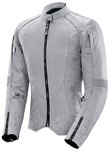 Joe Rocket Heartbreaker 30 Womens Textile Motorcycle Jacket GreySilver Small