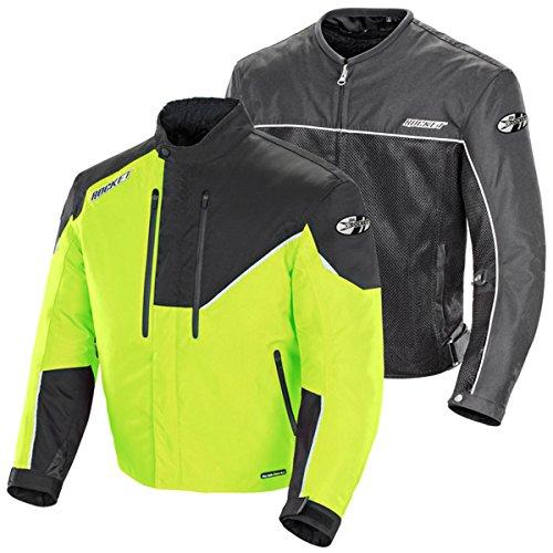 Joe Rocket Mens Alter Ego 41 Textile Motorcycle Jacket Hi-VizBlack X-Large