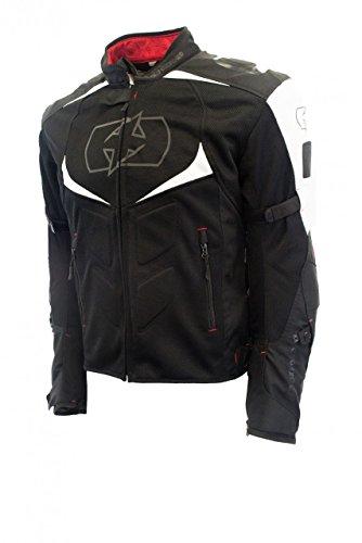 Oxford Melbourne US MESH Mens Textile Motorcycle Jacket BlackWhite 4X-LargeSize 50