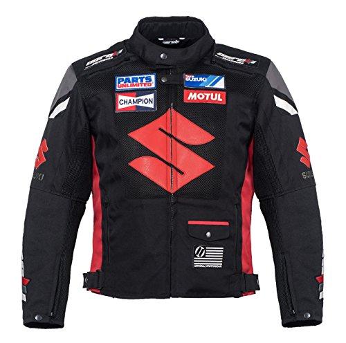 Suzuki Black Textile Motorcycle Jacket M EU50