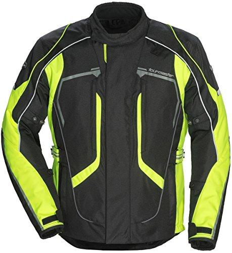 Tourmaster Advanced Mens Textile Motorcycle Jacket BlackHi-Viz Tall XX-Large