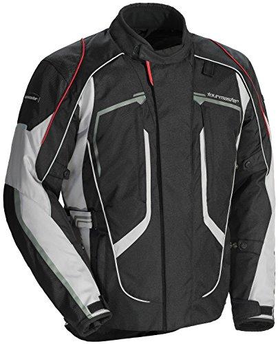 Tourmaster Advanced Womens Textile Motorcycle Jacket BlackGrey Large